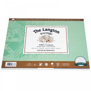 Langton Prestige Pad (NOT) 300gsm (140lb) 14 x 10 12 Sheets