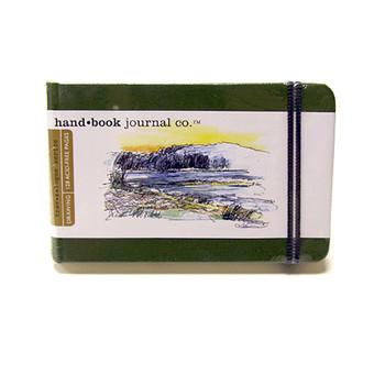 Hand Book Journal Sketchbook 3.5 x 5.5 Landscape Cadmium Green