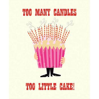 Card - Birthday candles