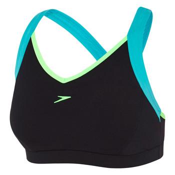 Womens Cross Trainer Racer Top Black/Bali Blue/Laser Green