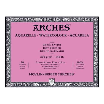 Arches Aquarelle Block Smooth 300gsm 12 x 16