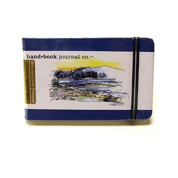 Hand Book Journal Sketchbook 3.5 x 5.5 Landscape Blue