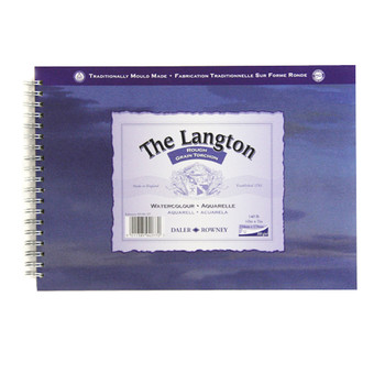 Langton Spiral Bound Rough 300gsm (140lb) 10 x 7