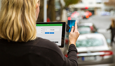 Vend mobile POS System on the street
