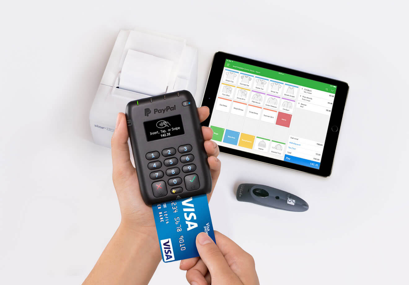 Start accepting EMV chip cards with Vend and PayPal.