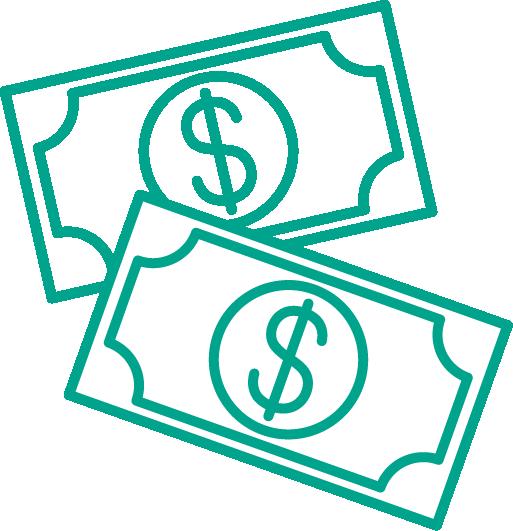dollar bill icons