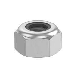 M8 X1.25 Zinc Plated Hex Nut With Locking Patch