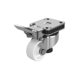 Premium Swivel Leveling Caster Wheel with Fixed Pedal, 200kg Capacity