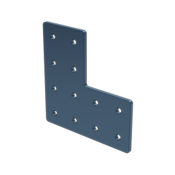 L-Shaped Aluminum Assembly Plate, for 45 x 90mm extrusions