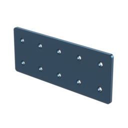 2x5 Hole Aluminum Assembly Plate