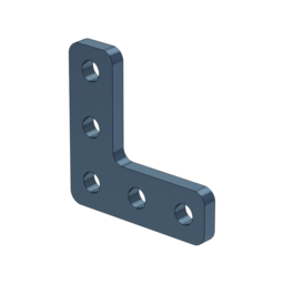 L-Shaped Aluminum Assembly Plate, for 22.5 x 22.5 Extrusions