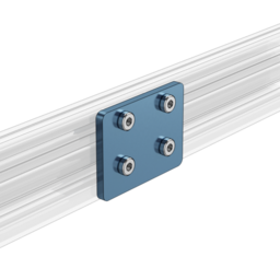 2X2 Hole Aluminum Assembly Plate, For 22.5mm to 45mm Extrusions
