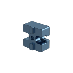 45mm x 45mm In-line Mounting Block for Right Angle Connections