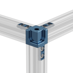 3-Way 22.5 x 22.5 Extrusion Corner Connector with Panel Cutouts