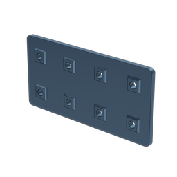 2x4 Hole Aluminum Assembly Plate, with Locators