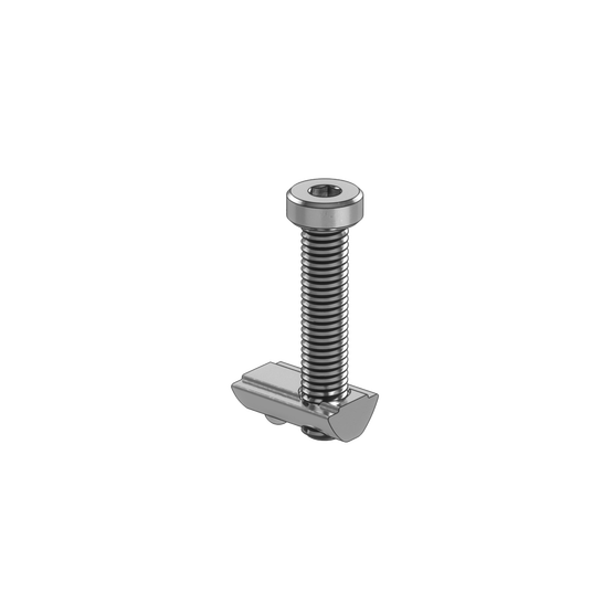 M8 x 40mm drop-in and spring loaded fastener with bolt