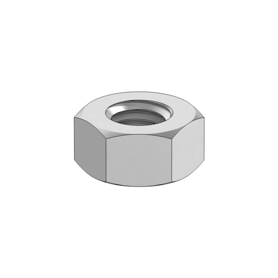 M8 X1.25 Zinc Plated Thin Hex Nut