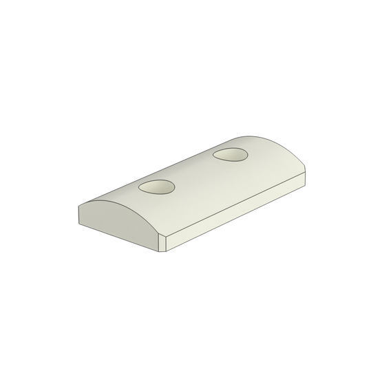 45x90mm Rest Pad, with Cylindrical Profile