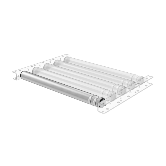 Grooved Rollers for Roller Conveyors, 585mm
