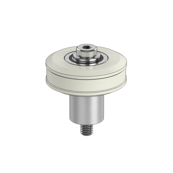 Large Acetal Roller Wheel with Concentric Bushing