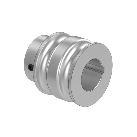 Double Groove Pulley for Belt-Driven Conveyor