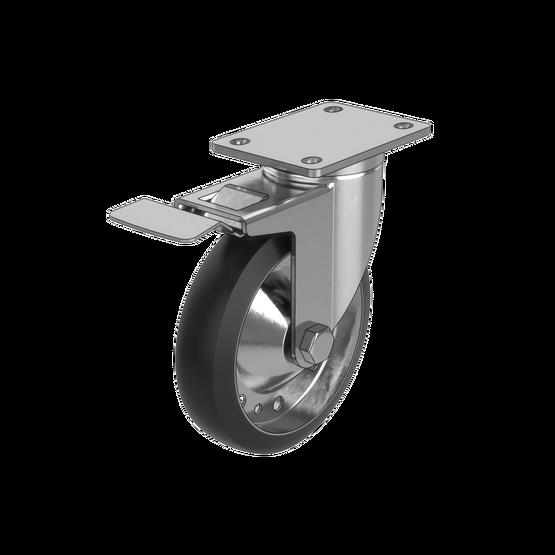 Medium-Duty Swivel Caster Wheel with Brake