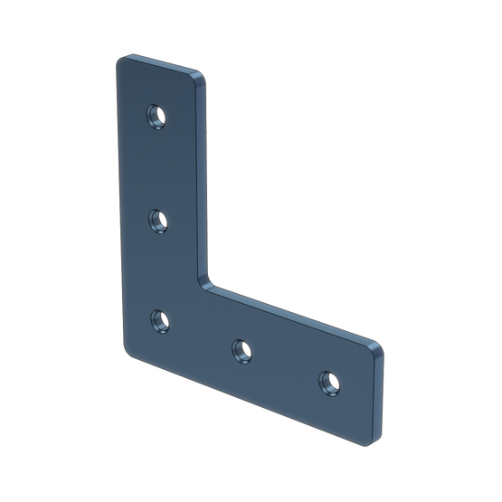 L-Shaped Aluminum Assembly Plate, for 45 x 45mm Extrusions