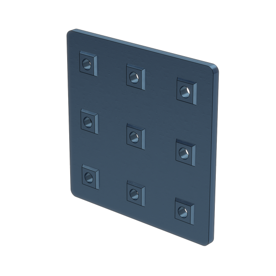 3x3 Hole Aluminum Assembly Plate, with Locators