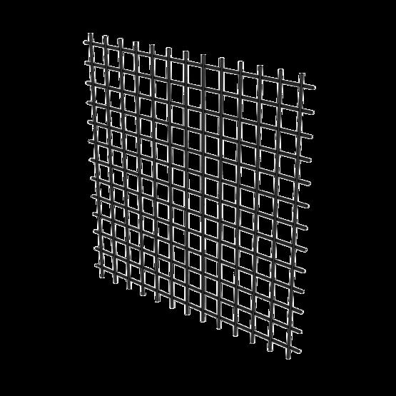 Plastic Coated Steel Wire Mesh, 25mm Grid