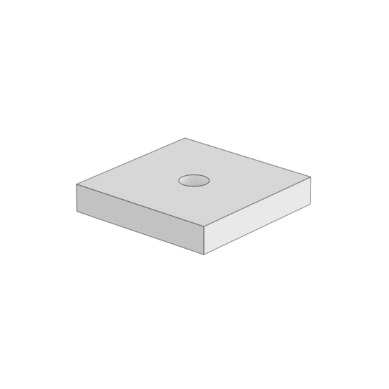 M8 Thru Hole for 1/8 inch and Thinner Panels