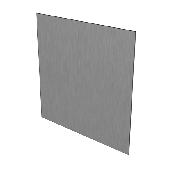 """22 Gauge Stainless Steel #4 Brushed 304 Sheet Plate 6/"""" x 6/"""" Set of 4"""