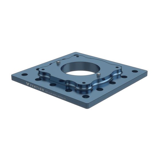 225x225mm UR10 Mounting plate, for Universal Robots