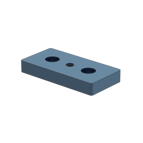 88x43mm Aluminum Mounting Plate