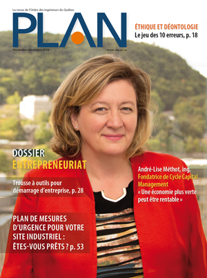 'PLAN' magazine of Ordre des Ingénieurs du Québe
