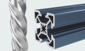 Vention Extrusions, machined to lenght