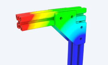 Vention Extrusions, optimized for strength and regidity