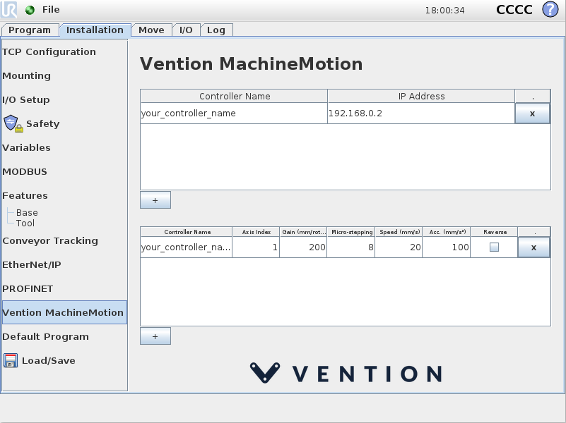 Using the Vention URCap for Linear Motion | Vention