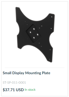 Small Display Mounting Plate
