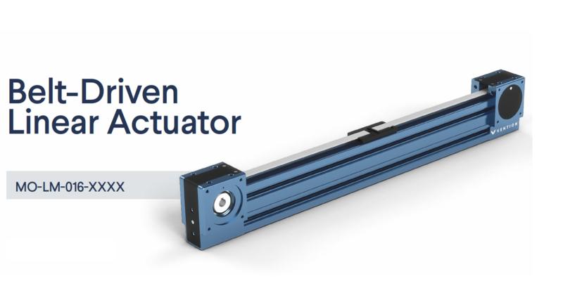 Timing Belt Linear Actuator Datasheet main image.