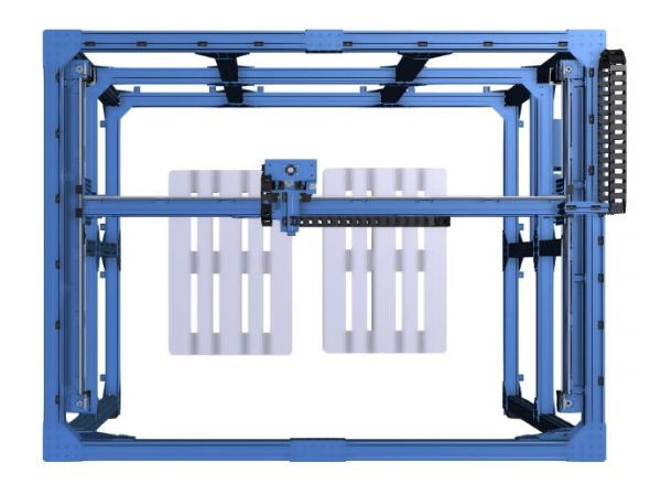 Vention Palletizer Design With Top Angle View