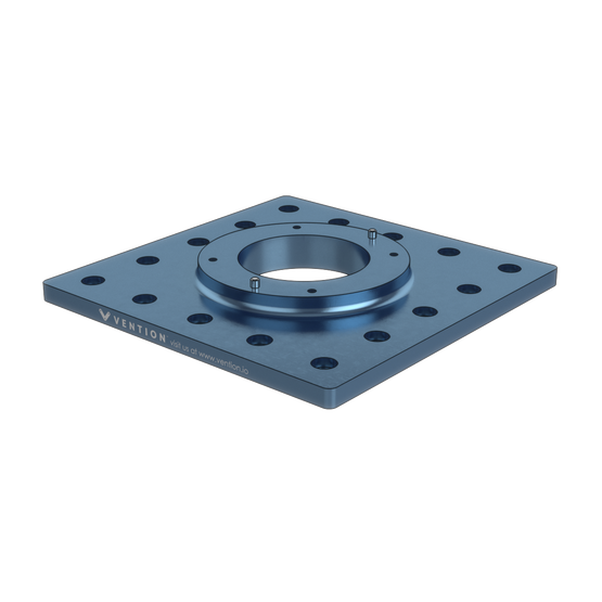 Industrial Robotic Arm Mounting Plate 225mm Square