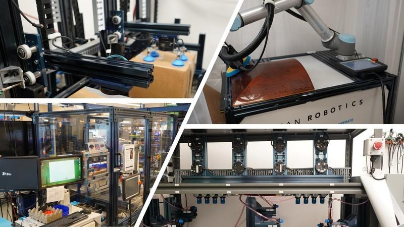 Robotiq's headquarters leverage numerous Vention equipments