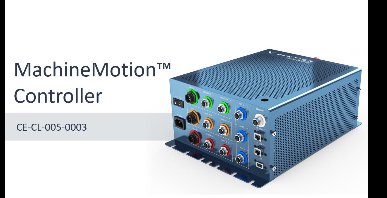 MachineMotion Controller Datasheet main image.