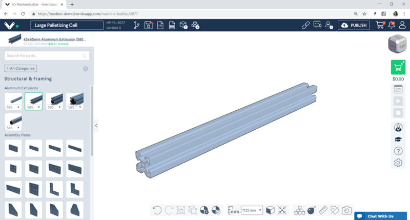 inseting modular hardware parts in Vention CAD