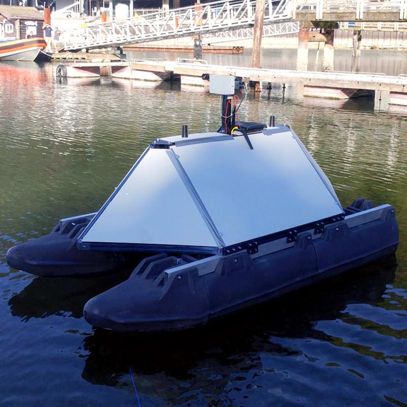 Vention Think Sensor Research's autonomous surface vessel