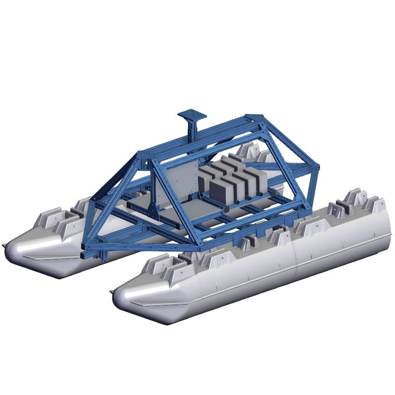 Vention MachineBuilder Think Sensor Research's autonomous surface vessel