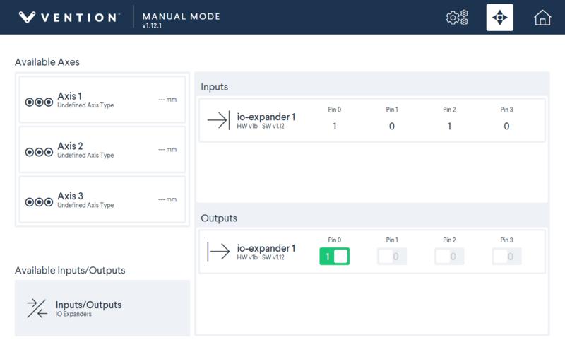Figure 5: Digital IO Module control interface