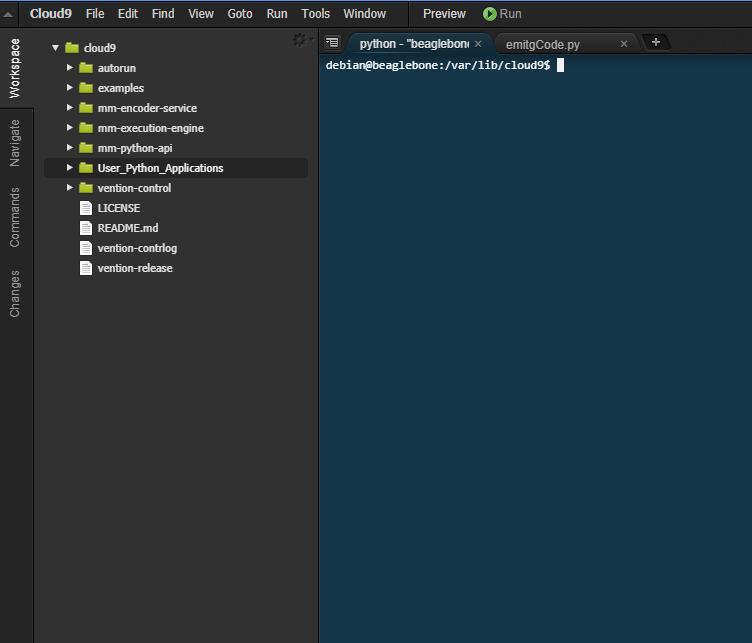 Figure 20: Cloud9 IDE