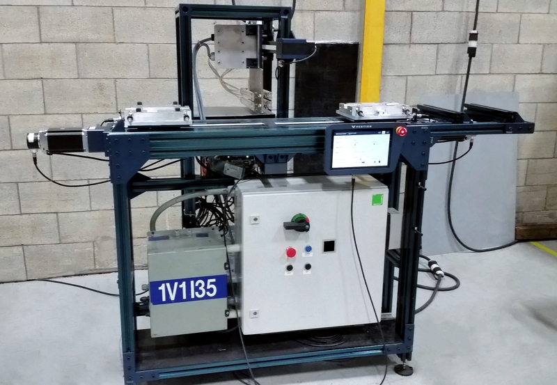 Vention MachineBuilder Sogefi Group's infrared plastic welding machine for automotive parts