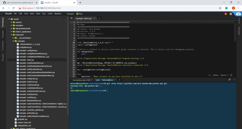 Cloud9 Python Interface